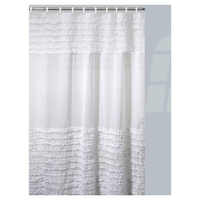 RUFFLES SHOWER CURTAIN