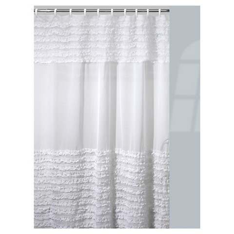 Ruffled Curtains Canada Ruffles Shower Curtain