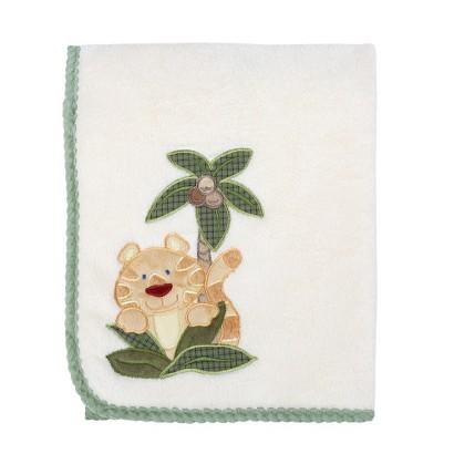NoJo Jungle Babies Appliqué Coral Blanket