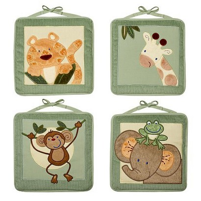 NoJo Jungle Babies Wall Hangings - Set of 4