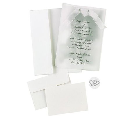 Wedding Invitations with Photo Overlay (50 count)