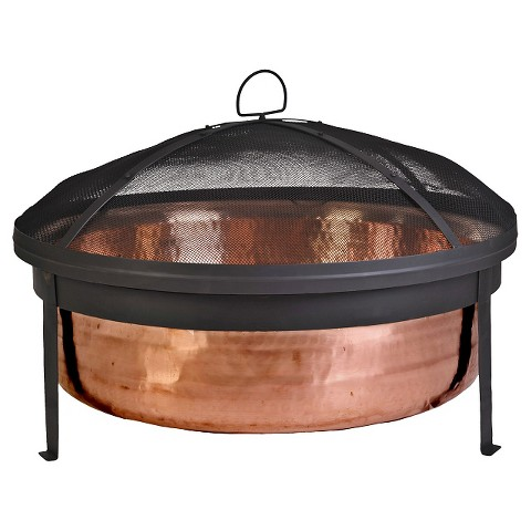 Hammered Copper Fire Pit - 30""