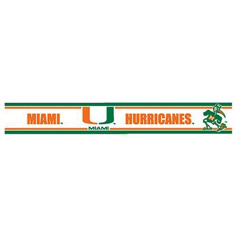 Miami Hurricanes Wall Border - Set of 2