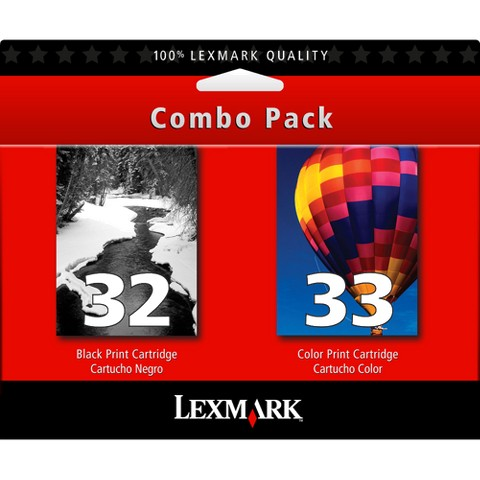 Lexmark #32/ #33 Black and Color Ink Cartridge Combo