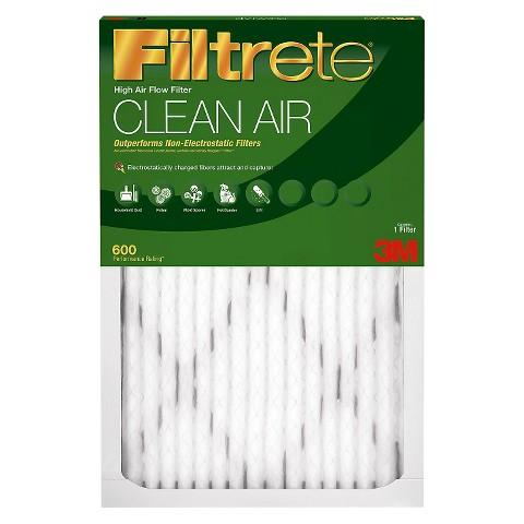 "3M Filtrete™ Clean Air 600 MPR 20x20"" Filter - Value 4 Pk."