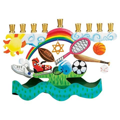 Hanukkah Sports Menorah