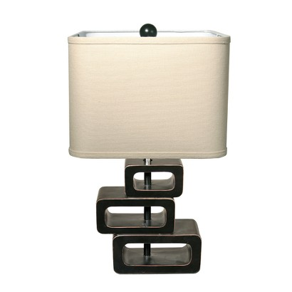 Orbit Exotic Retreat Table Lamp - Espresso Base/Tan Shade