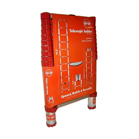 Up Up 10.5' Household Telescoping Ladder