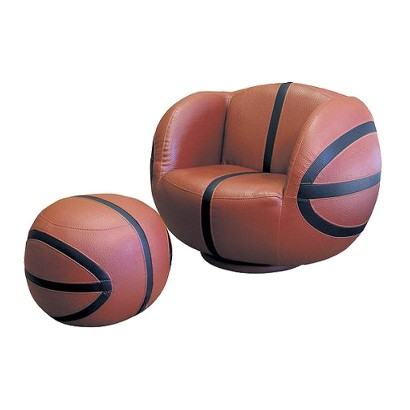 Ore International Basketball Chair & Ottoman set