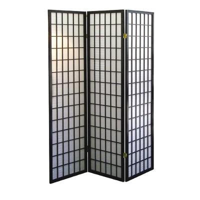 Ore International 3 Panel Room Divider - Black