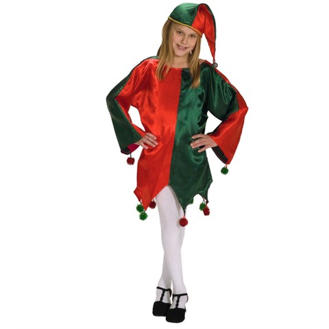Girl's Satin Jingle Elf - Small