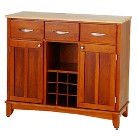 Home Styles Hutch-Style Buffet - Oak/Natural