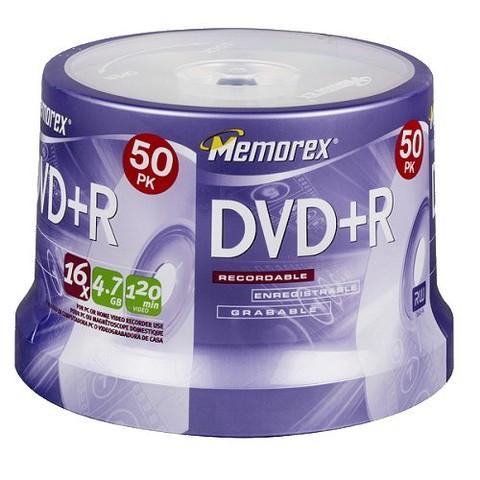 Memorex DVD+R Eco Spindle Disc Pack - 50 PK