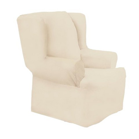 sure fit cotton duck wing chair slipcover target