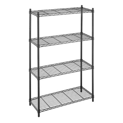 Whitmor Supreme 4-Tier Shelving - Black