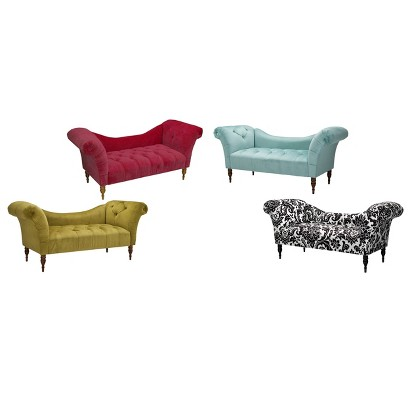 Button tufted chaise settee target for Button tufted chaise settee velvet canary