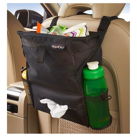 High Road Auto Litter Bag/Tissue Holder - Black