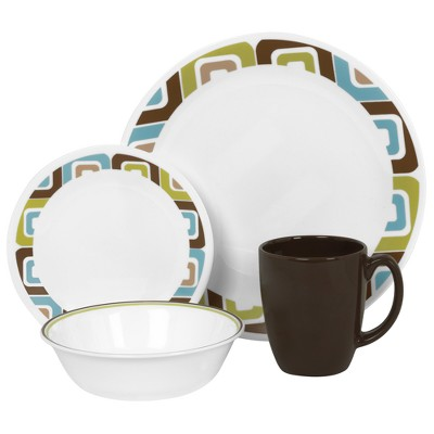 Corelle Livingware 16 Piece Dinnerware Set - Squared