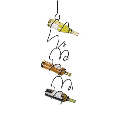 Oenophilia Climbing Tendril 6-Bottle Wine Rack - Black