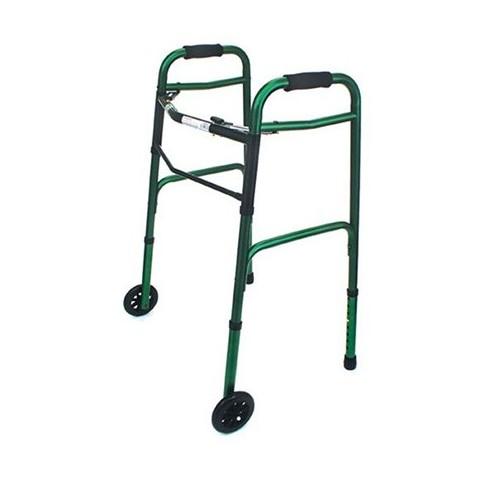 Mabis Healthcare Folding Walker - Green