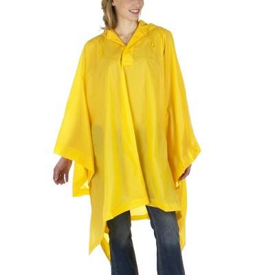 Solid Rain Poncho - Yellow