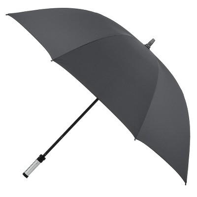 Manual Golf Umbrella with ID Handle - Black