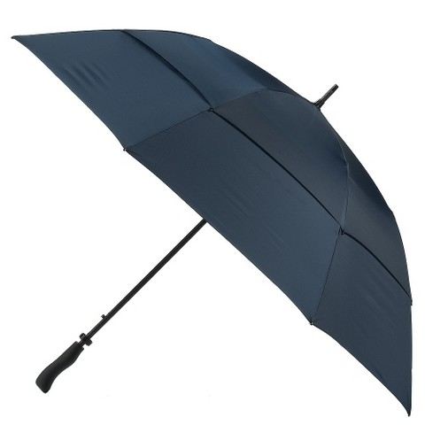 Auto-Open Double-Canopy Golf Umbrella - Navy