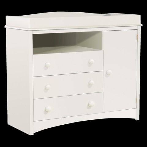 South Shore Peek-a-Boo Changing Table - Pure White