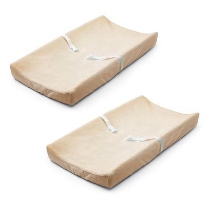 Basic Comfort Ultra Plush Changing Pad Cover (2 Pack) - Ecru