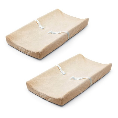 Summer Infant® Comfort Ultra Plush Changing Pad Cover (2 Pack) - Light Beige