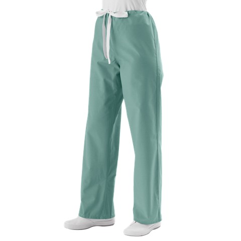 Medline Unisex Reversible Scrub Pants with Drawstring - Khaki