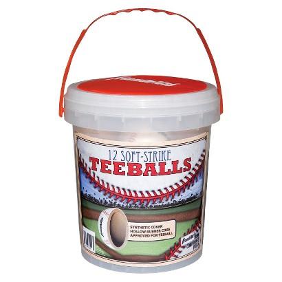 "Franklin SoftStrike Teeballs 12 pk. - White (9"")"