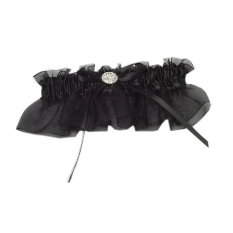 Midnight Rendezvous Wedding Collection Garter - Black