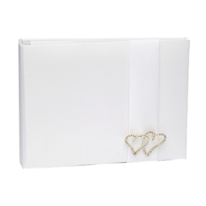 With All My Heart Guestbook - White