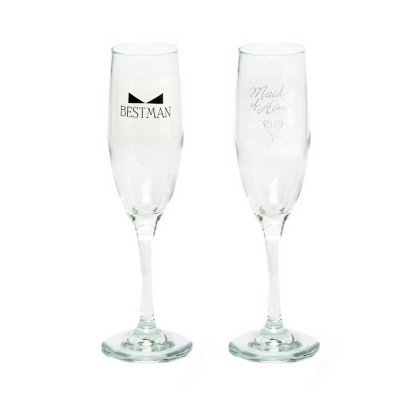 Maid of Honor and Best Man Champagne Flutes