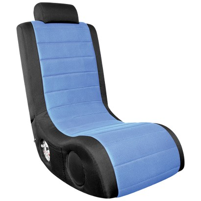 Gaming Chair: Lumisource BoomChair A44 Gamer - Black With Blue