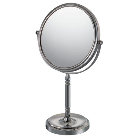 "Mirror Image Recessed Base Vanity Mirror 7.75"" Chrome"