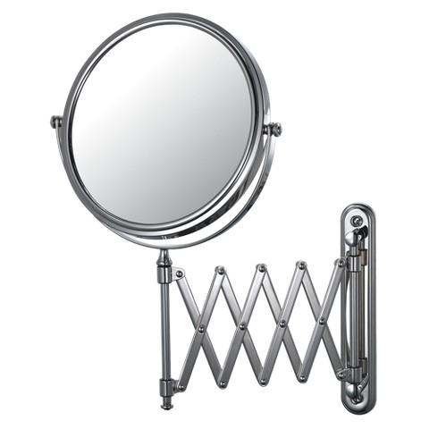 "Mirror Image Extension Arm Wall Mirror 7.88"" Chrome"