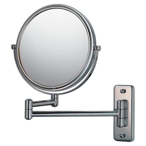 "Mirror Image Double Arm Wall Mirror 7.75"" Chrome"