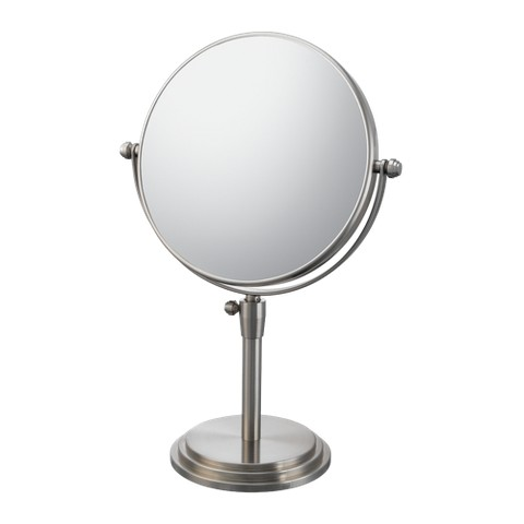 "Mirror Image Classic Adjustable Vanity Mirror 7.75"" Brushed Nickel"