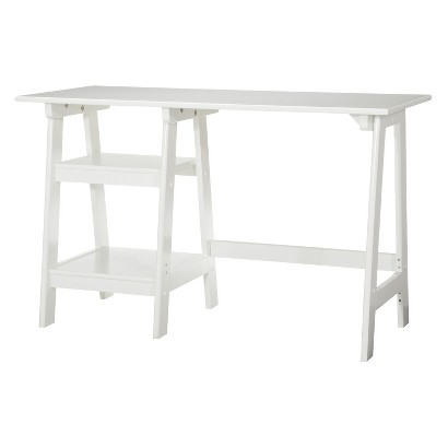 Writing Desk: Braxton Trestle Desk - White