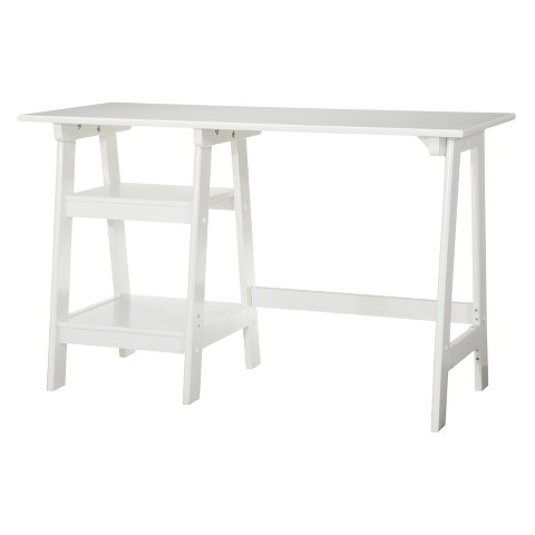 Braxton Trestle Desk - White