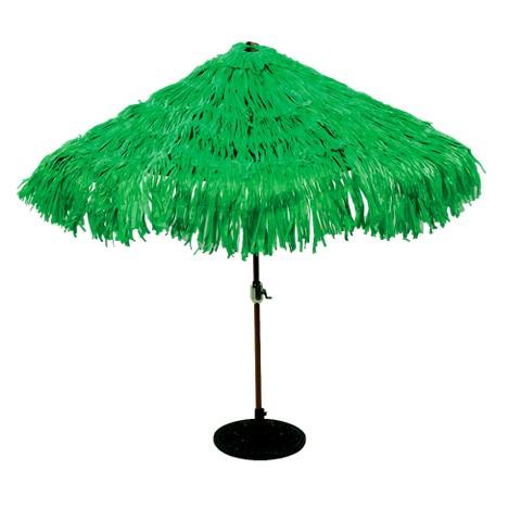 Nylon Hawaiian Umbrella Cover for Luau Birthday Party - Green