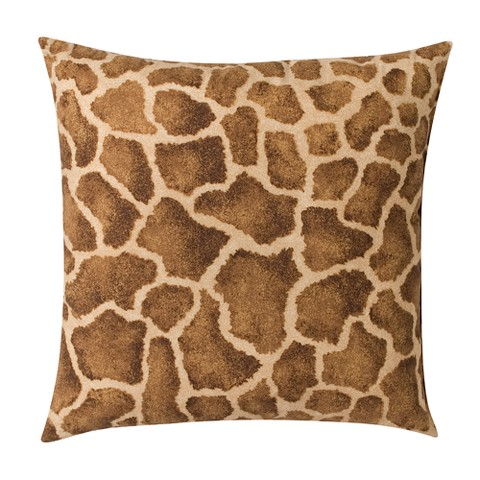 Giraffe Square Pillow - 18""