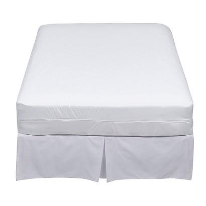 "9"" Stretch Knit Twin XL Zip Allergy Mattress Cover - White"