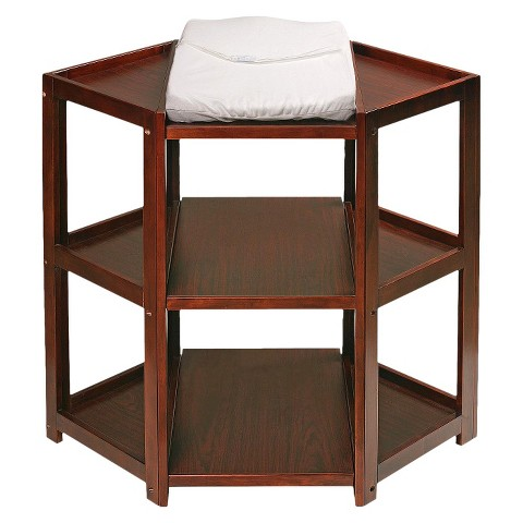 Badger Basket Diaper Corner Changing Table - Cherry