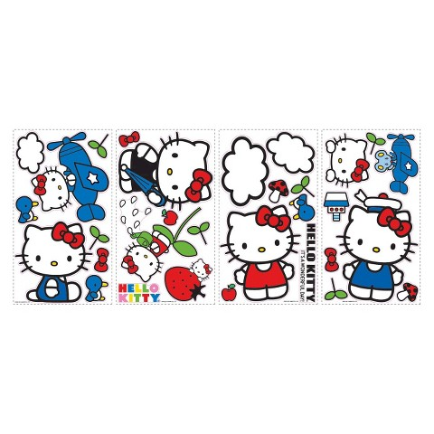 Hello Kitty Peel-and-Stick Appliqués