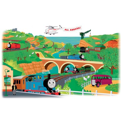Thomas the Tank Engine Giant Peel-and-Stick Mural
