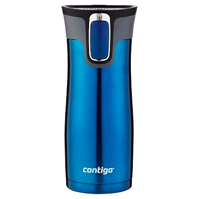 Contigo® AUTOSEAL® West Loop Stainless Travel Mug with Open-Access Lid - Blue (16 oz)