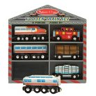 Melissa & Doug® Wooden Train Set - Diesel Trains
